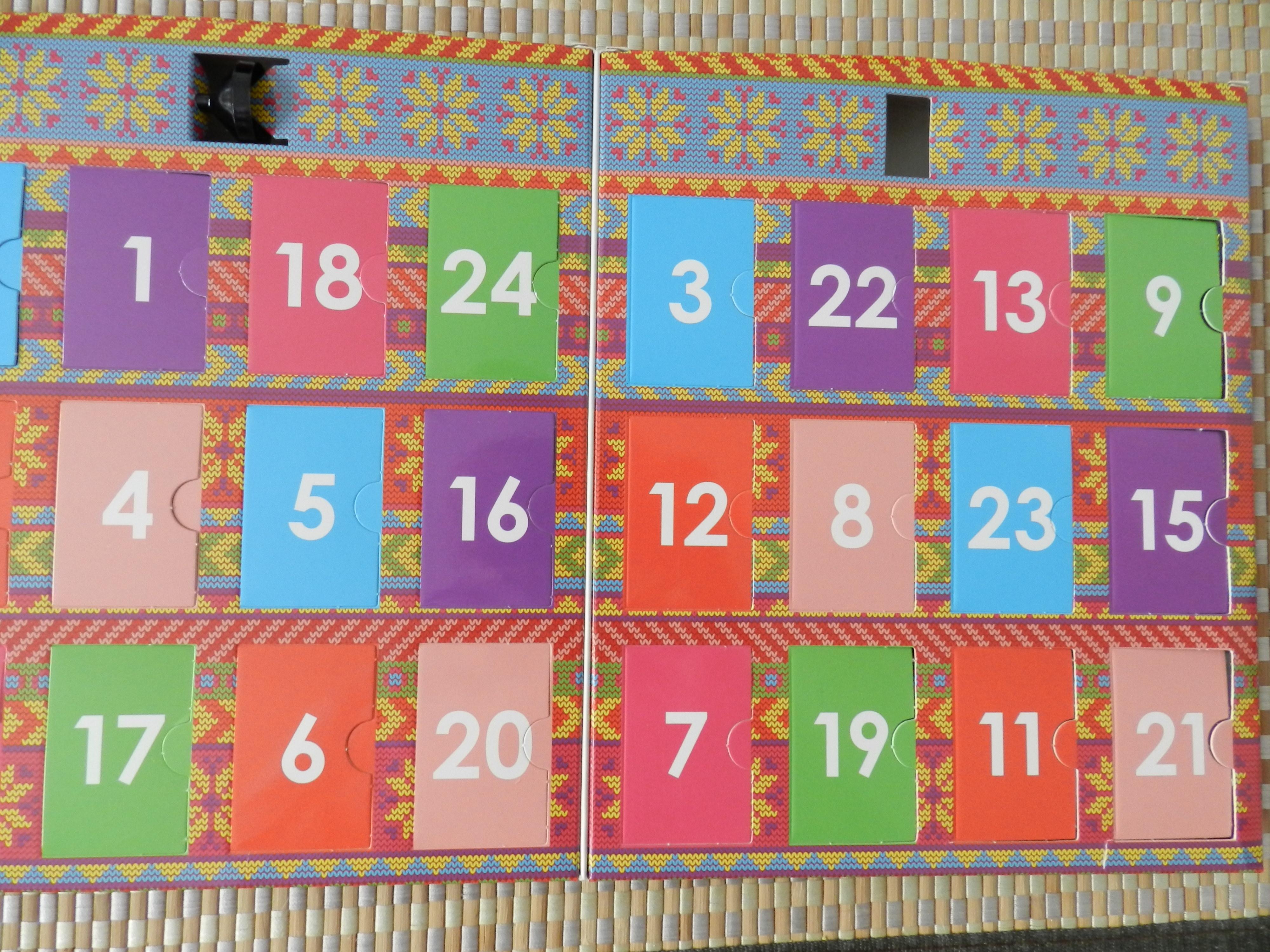 Mon mes calendrier s de l 39 avent rouge aux ongles - Calendrier de l avent light ...