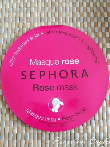 Masque Rose Sephora - Rouge aux Ongles