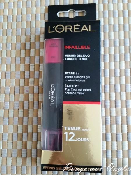 Vernis Infaillible L'Oréal - Rouge aux Ongles