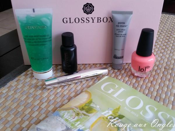 La GlossyBox de Juin 2015 - Rouge aux Ongles