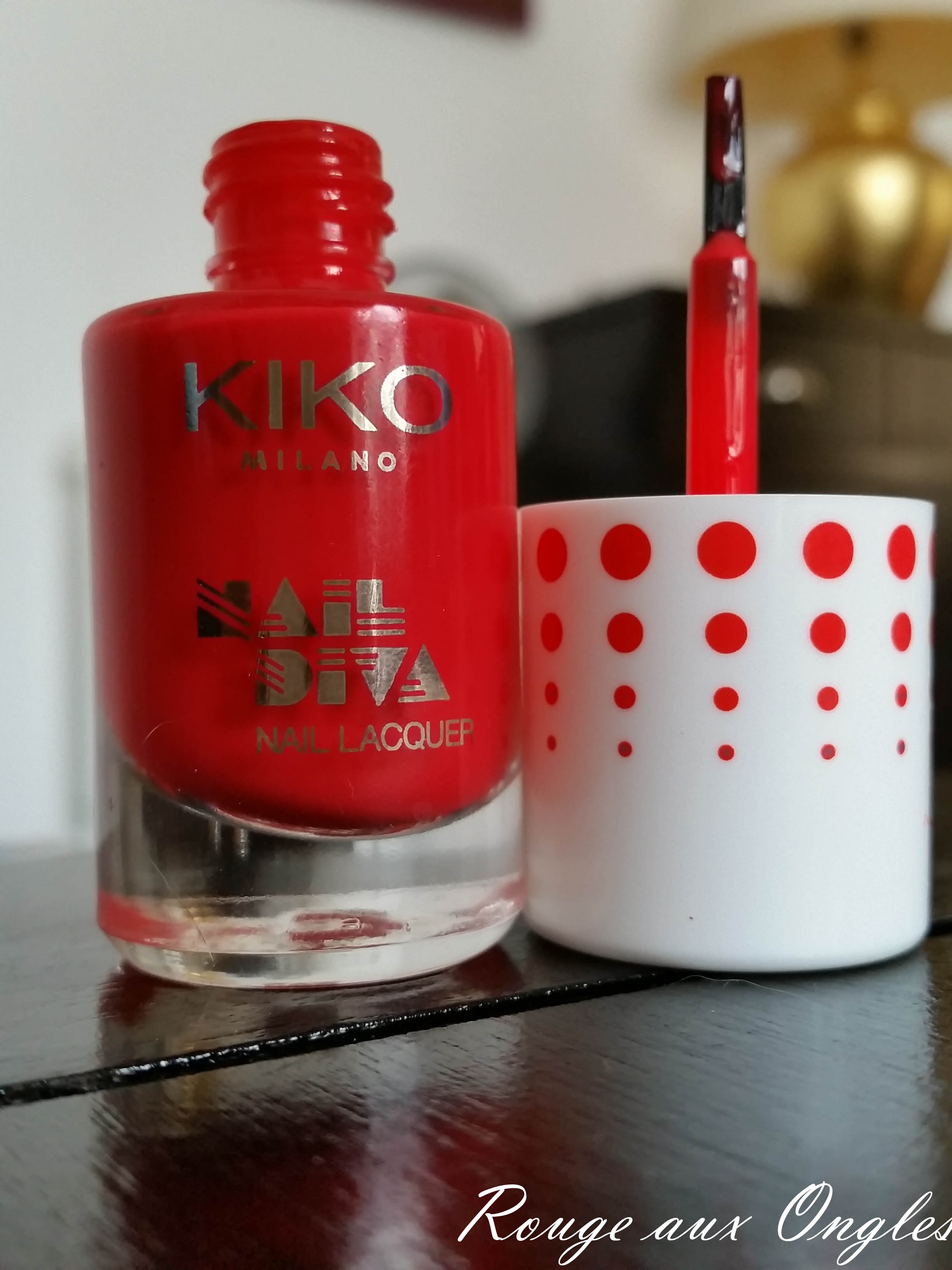 Nail Diva Kiko - Rouge aux Ongles