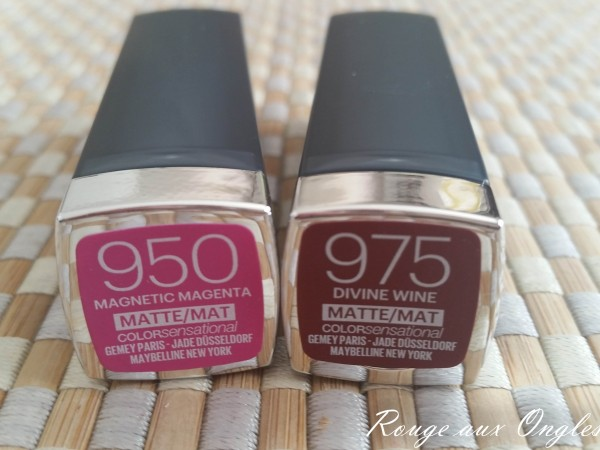 Color Sensational Mat de Maybelline - Rouge aux Ongles