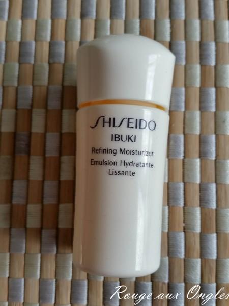 Refining Moisturizer de la gamme Ibuki de Shiseido - Rouge aux Ongles