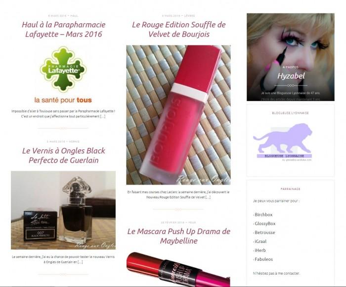 Mon nouveau Blog 1 - Rouge aux Ongles