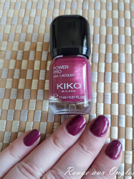 Le Power Pro Nail Lacquer en teinte Cramberry Juice de Kiko - Rouge aux Ongles
