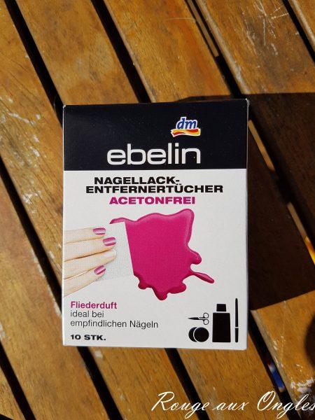 Lingettes Dissolvantes de Ebelin - Rouge aux Ongles