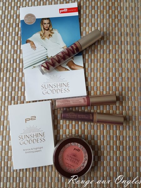 La Collection La Sunshine Goddess de P2 - Rouge aux Ongles
