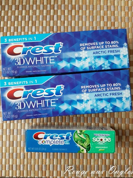 Dentifrice Crest - Rouge aux Ongles