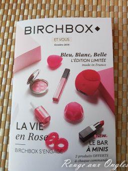 La BirchBox d'Octobre 2016 - Rouge aux Ongles